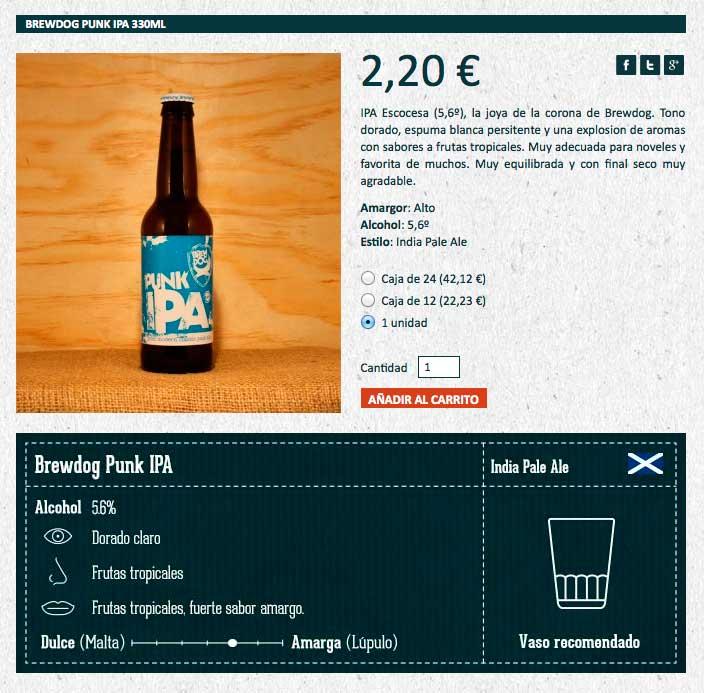 BeerBox Ficha Brewdog Punk IPA
